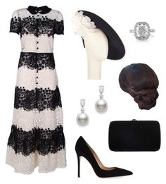 """""""Untitled #213"""" by dresslikearoyal ❤ liked on Polyvore featuring RED Valentino, John Lewis, Gianvito Rossi, Mikimoto and Sergio Rossi"""