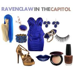 Ravenclaw in the Capitol Harry Potter Dress Up, Harry Potter Style, Harry Potter Outfits, Character Inspired Outfits, Luna Lovegood, Cosplay Makeup, I Feel Pretty, Dressed To Kill, Ravenclaw