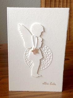 Weihnachtskarten mit Engel, Stanze Alexandra Renke