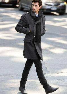Winter fashion -Sean O'Pry Moda para hombre invierno