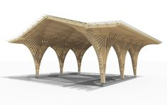 Gallery of Creation of a Forest Shelter at Bertrichamp / Studiolada Architectes + Yoann Saehr Architect - 3 Architecture Paramétrique, Factory Architecture, Shelter, Egyptian Home Decor, Parvis, Architecture Presentation Board, Timber Buildings, Timber Structure, Bridge Design