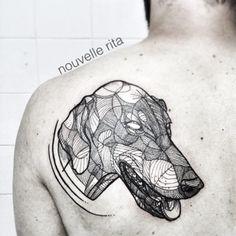 #nouvellerita #doberman #tattoo #linework