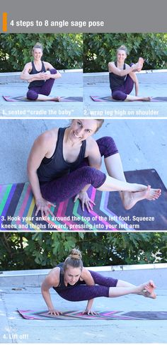 Yoga poses offer numerous benefits to anyone who performs them. There are basic yoga poses and more advanced yoga poses. Here are four advanced yoga poses to get you moving. Yoga Moves, Yoga Exercises, Yoga Inversions, Yoga Flow, Yoga Meditation, Sup Yoga, Advanced Yoga, Yoga For Weight Loss, Yoga Tips