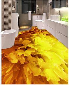 Photo floor wallpaper stereoscopic Golden flower floor PVC waterproof floor Custom Photo self-adhesive floor 3d Flooring, Floors, Floor Wallpaper, Golden Flower, Waterproof Flooring, Custom Photo, Adhesive, Building, Home Tiles