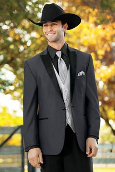 Latest Coat Pant Designs Charcoal Formal Custom Jacket Wedding Suits For Men Beach Groom Best Man Slim Fit 3 Pieces Terno 647 Groom Tuxedo Wedding, Wedding Suits, Wedding Tuxedos, Prom Tuxedo, Wedding Attire, Tuxedo Jacket, Suit Jacket, Cowboy Suit, Cowboy Tuxedo