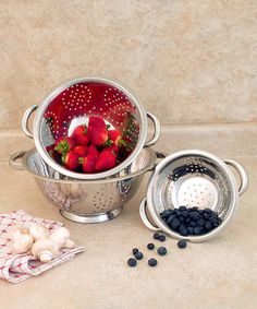Look what I found on #zulily! Stainless Steel Three-Piece Colander Set #zulilyfinds