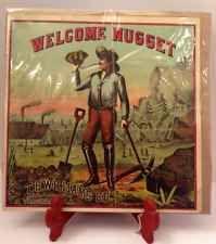 Vintage Original Tobacco Label: Welcome Nugget T. C. Williams Co. Tobacciana Old