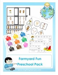 Free Farm Preschool Pack