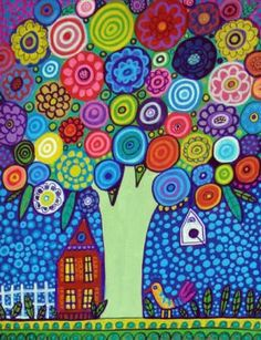 Flower Tree by Heather Galler