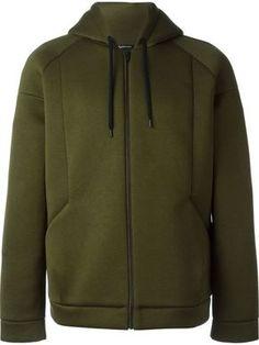 Shop T By Alexander Wang scuba hoodie in Elite from the world's best… Men's Activewear, Minimal Fashion, Urban Fashion, Sport Fashion, Mens Fashion, Mens Outdoor Jackets, Moda Online, Sport Wear, Men Looks