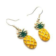 Pineapple earrings fruit earrings pineapple by LozziGoodsJewellery