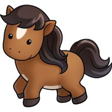 Pony - Lots of clip art on this site Cute Animal Clipart, Cute Cartoon Animals, Cute Clipart, Baby Animals, Cute Animals, Baby Horses, Cute Horses, Zebras, Kawaii Drawings