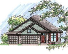 Plan W89748AH: Northwest, Craftsman, Narrow Lot, Sloping Lot House Plans & Home Designs