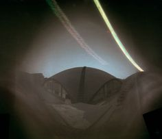 8 days solargraphy exposure. Cylindric pinhole camera loaded with photosensitive Ilford RC paper. Diego López Calvín ©  #solarigrafia #solargraphy #pinholephotography #fotografiaestenopeica #pinhole #estenopeica #longexposure #largaexposicion #madrid #visualart #solargraph