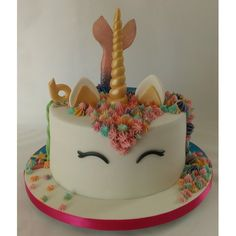 <b>Unicorn-Mermaid Cake</b><br/> Double-sided cake giving approx 48 portions 9th Birthday, Birthday Cake, Birthday Ideas, Twins Cake, Mermaid Cakes, Dream Cake, Mermaid Birthday, Unicorn, Birthdays