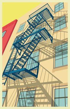 Greenwich village New York City #2 by Remko Gap Heemskerk