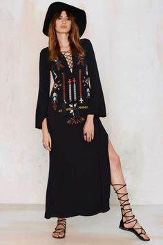 Abequa Embroidered Dress - Dresses