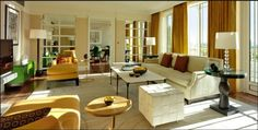 Sitting room of the Harlequin Suite at The Dorchester, London. The suite is the largest of the three roof suites which also include The Audley and Terrace Suites. Refurbished by Alexandra Champalimaud, the design evokes the original style of the hotel. London Hotels, Dorchester Collection, The Dorchester, Luxury Rooms, Luxury Hotels, Luxury Travel, Luxury Suites, Hotel Suites, Decoration