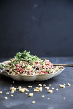Quinoa And Smokey Eggplant Salad - Sneh Roy, photography and styling #extra#virgin#olive#oil