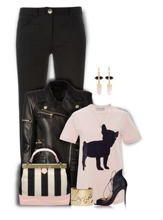 """""""That Jacket , Those Heels, Enough Said!"""" by mimi1207 ❤ liked on Polyvore featuring Boutique Moschino, Balmain, Être Cécile, Christian Louboutin, Lanvin, Gucci, Isabel Marant and styleit"""