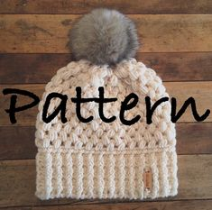 This listing is for a CROCHET HAT PATTERN only. This is NOT a finished product. For finished hats, click here: https://www.etsy.com/shop/ShopABCrochet?section_id=16144537&ref=shopsection_leftnav_3 These hats are the perfect winter accessory! This pattern will teach you how to make my Fitted Puff Stitch Beanie, where to change colors to create my Ombre Beanies and Candy Corn Beanie, and is also the pattern for my Faux Fur Pompom Beanies! The hats you can make with this pattern are endless…