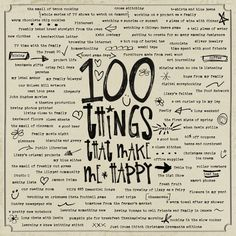 GSO - 100 things that make me happy by sarahbhb.
