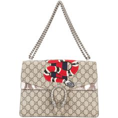 Gucci Dionysus shoulder bag (€3.260) ❤ liked on Polyvore featuring bags, handbags, shoulder bags, gucci, white handbags, genuine leather handbags, chain strap shoulder bag, gucci shoulder bag and white purse