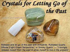 Letting go of the past: Anhydrite, Rutilated Quartz, Light Green Serpentine, Smokey Quartz