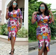 African Wear, African Women, African Dress, Africa Style, Flower Skirt, Mid Length Dresses, Kitenge, Fashion Statements, Africa Fashion