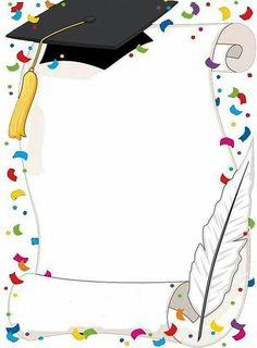 kindergarten graduation design for progress report Graduation Clip Art, Kindergarten Graduation, Graduation Cards, Page Borders Design, Border Design, Borders For Paper, Borders And Frames, School Frame, Paper Frames