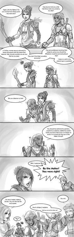 Dragon Age Origins: Banter 2 by pen-gwyn.deviantart.com on @deviantART