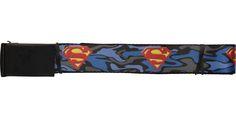 Superman Logo Blue Camo Wide Mesh Belt
