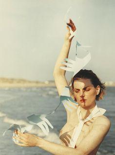 Line In The Sand Publication: Vogue UK October 2017 Model: Guinevere Van Seenus Photographer: Jack Davison  Fashion Editor: Lucinda Chambers Hair: Neil Moodie Make Up: Lotten Holmqvist