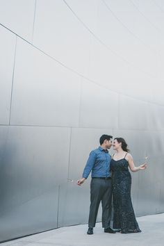 Jessica + Jose had a fantastic engagement shoot at Walt Disney Music Hall In California.