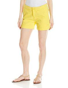 KAVU Womens Avalon Shorts Lemon Drop 10 >>> Click image to review more details.