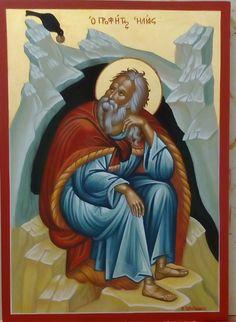 Ο Προφητης Ηλιας St Helias the prophet Art Icon, Orthodox Icons, Saints, Painting, Men, Painting Art, Paintings, Guys, Painted Canvas