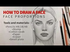 How to draw a face. Drawing Lessons, Drawing Techniques, Facial Proportions, Nose Drawing, Belly Dancing Classes, Canvas Painting Tutorials, Sketches Tutorial, Art Drawings Sketches Simple, Face Sketch