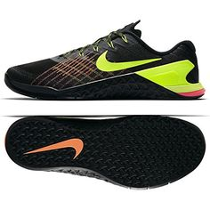 best website 7f6fb 06172 NIKE Men s Metcon 3 Training Shoe Black Volt-Hyper Crimson-HOT Punch 9.5