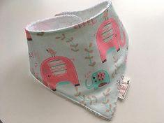 Baby Bandana / Dribble Bib / Handmade / Adjustable Bib / Pink & Blue Elephants Splash Dribble Bibs, Bandana Bib, Bandanas, Elephants, Pink Blue, Coin Purse, Boutique, Wallet, Purses