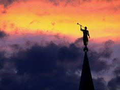 The angel Moroni - And I saw another angel flying in the midst of heaven , having the everlasting gospel to preach to them that dwell on the earth, and to every nation, and kindred, and tongue , and people. (Revelations 14:6)