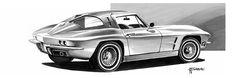 Corvette C2, Chevrolet Corvette, Markers, Cars, Vehicles, Sharpies, Autos, Car, Car