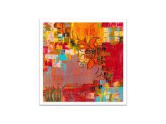ABSTRACT fine art PRINTlarge orange red yellow by devikasart, $55.00