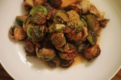 Fried Brussels Sprouts with Apple Gastrique *add shaved fennel & apple.