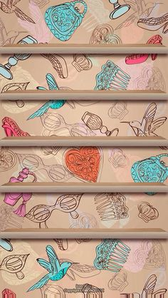 iPhone Shelf Wallpaper