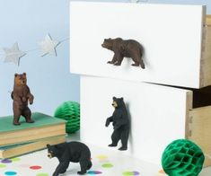 Big Bear Cupboard Knob ~ Pair Of Bear Knobs by Candy Queen Designs, the perfect gift for Explore more unique gifts in our curated marketplace. Bears Furniture, Furniture Knobs, Second Hand Desks, Cupboard Door Knobs, Drawer Knobs, Skateboard Furniture, Jungle Theme Nursery, Black Bear Cub, We Bear