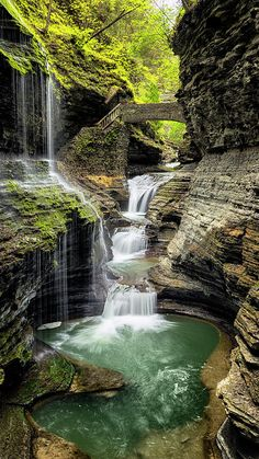 Rainbow Falls Gorge Photograph by Stephen Stookey