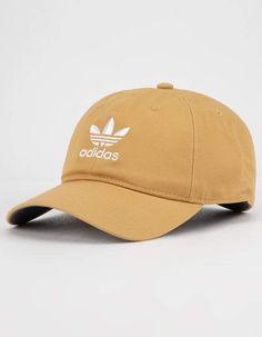 c3c03763d17 ADIDAS Originals Relaxed Raw Sand Mens Strapback Hat - YELLO - CK4988