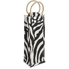 Epic 43-766 17.5' Zebra Print Design Jute Bottle Bag with Cane Carrying Handles -- A special product just for you. See it now! : Christmas Gifts