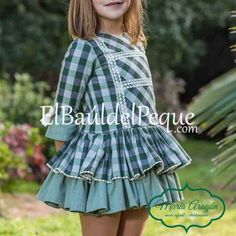 Vestido Talle Bajo Niña Amsterdam Cuadros de María Aragón Moda Infantil Venta Online