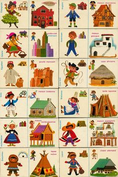 Domino houses, an educational game by Fernand Nathan (via maptitefabrique) Vintage Children's Books, Vintage Toys, Fernand Nathan, Cultures Du Monde, Thinking Day, Educational Games, Children's Book Illustration, Montessori, Childrens Books